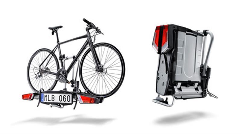 Klappbarer Fahrradträger für Anhängerzugvorrichtung, 2 Fahrräder