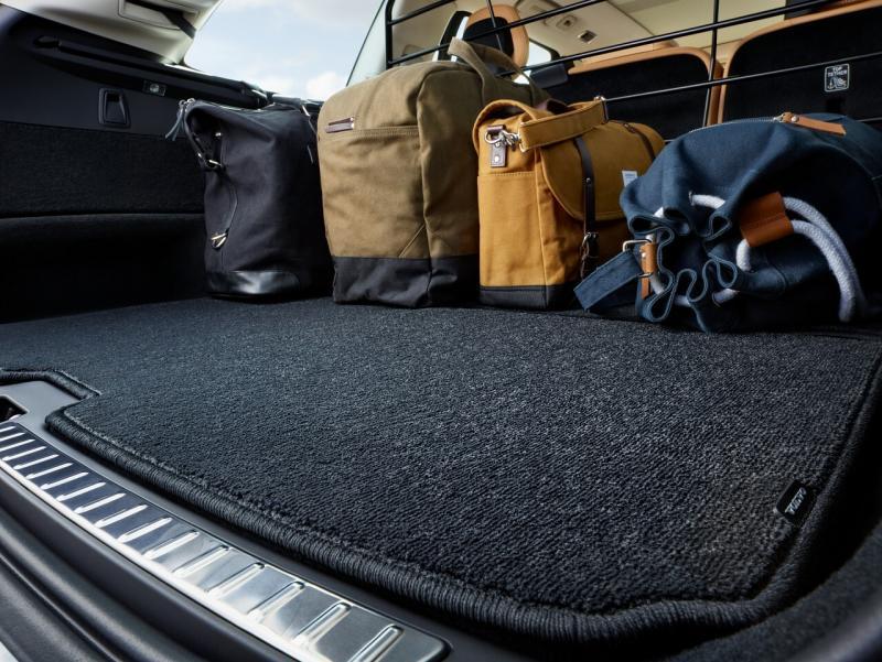 Tapis de compartiment à bagages réversible textile/plastique